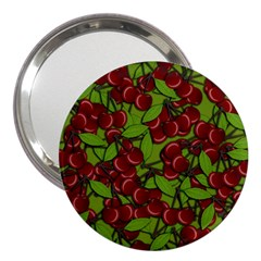 Cherry Jammy Pattern 3  Handbag Mirrors by Valentinaart