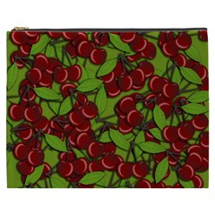 Cherry Jammy Pattern Cosmetic Bag (xxxl)  by Valentinaart