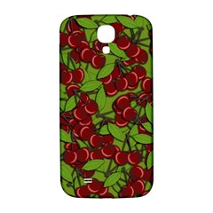 Cherry Jammy Pattern Samsung Galaxy S4 I9500/i9505  Hardshell Back Case by Valentinaart