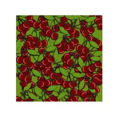 Cherry Jammy Pattern Small Satin Scarf (square) by Valentinaart