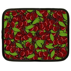 Cherry Pattern Netbook Case (large) by Valentinaart
