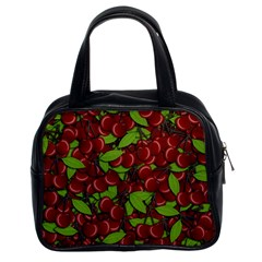 Cherry Pattern Classic Handbags (2 Sides) by Valentinaart