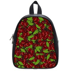 Cherry Pattern School Bags (small)  by Valentinaart