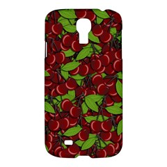 Cherry Pattern Samsung Galaxy S4 I9500/i9505 Hardshell Case by Valentinaart