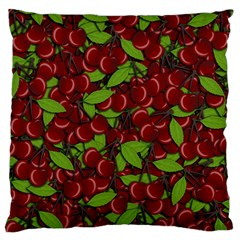 Cherry Pattern Large Flano Cushion Case (one Side) by Valentinaart