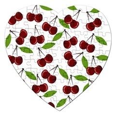 Cherry Pattern Jigsaw Puzzle (heart) by Valentinaart