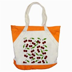 Cherry Pattern Accent Tote Bag by Valentinaart
