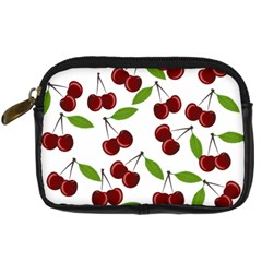 Cherry Pattern Digital Camera Cases by Valentinaart