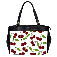 Cherry Pattern Office Handbags (2 Sides)  by Valentinaart