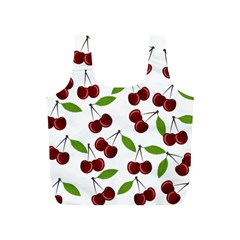 Cherry Pattern Full Print Recycle Bags (s)  by Valentinaart