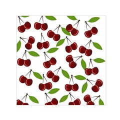 Cherry Pattern Small Satin Scarf (square) by Valentinaart
