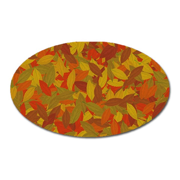 Orange autumn Oval Magnet