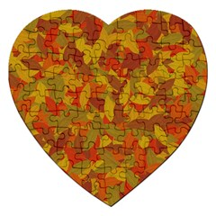 Orange Autumn Jigsaw Puzzle (heart) by Valentinaart
