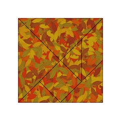 Orange Autumn Acrylic Tangram Puzzle (4  X 4 ) by Valentinaart