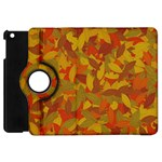 Orange autumn Apple iPad Mini Flip 360 Case Front