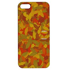 Orange Autumn Apple Iphone 5 Hardshell Case With Stand by Valentinaart