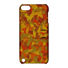 Orange Autumn Apple Ipod Touch 5 Hardshell Case With Stand by Valentinaart