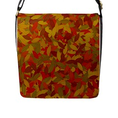 Orange Autumn Flap Messenger Bag (l)  by Valentinaart