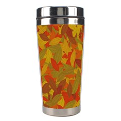 Orange Autumn Stainless Steel Travel Tumblers by Valentinaart