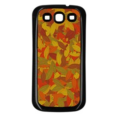 Orange Autumn Samsung Galaxy S3 Back Case (black) by Valentinaart