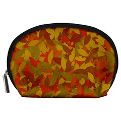 Orange Autumn Accessory Pouches (large)  by Valentinaart