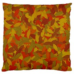 Orange Autumn Large Flano Cushion Case (two Sides) by Valentinaart