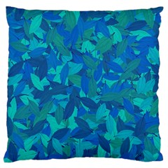 Blue Autumn Large Cushion Case (one Side) by Valentinaart