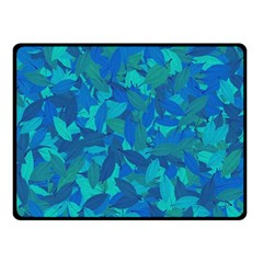 Blue Autumn Double Sided Fleece Blanket (small)  by Valentinaart
