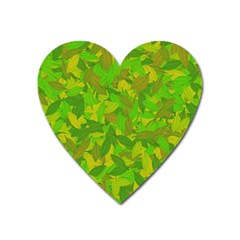 Green Autumn Heart Magnet by Valentinaart