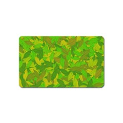 Green Autumn Magnet (name Card) by Valentinaart