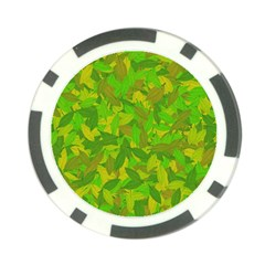 Green Autumn Poker Chip Card Guard by Valentinaart