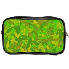 Green Autumn Toiletries Bags 2 Side by Valentinaart