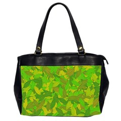 Green Autumn Office Handbags (2 Sides)  by Valentinaart