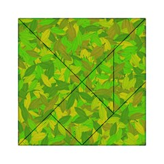 Green Autumn Acrylic Tangram Puzzle (6  X 6 ) by Valentinaart