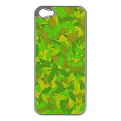 Green Autumn Apple Iphone 5 Case (silver) by Valentinaart