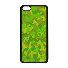 Green Autumn Apple Iphone 5c Seamless Case (black) by Valentinaart