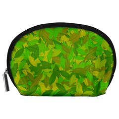 Green Autumn Accessory Pouches (large)  by Valentinaart