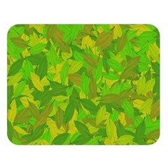 Green Autumn Double Sided Flano Blanket (large)  by Valentinaart