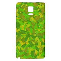 Green Autumn Galaxy Note 4 Back Case by Valentinaart