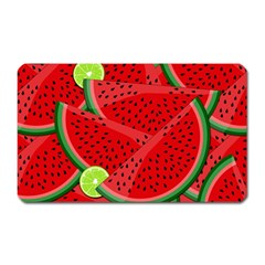 Watermelon Slices Magnet (rectangular) by Valentinaart