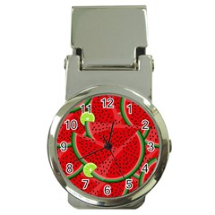 Watermelon Slices Money Clip Watches by Valentinaart