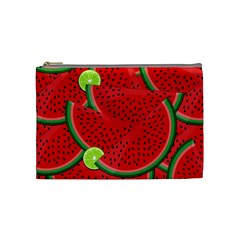 Watermelon Slices Cosmetic Bag (medium)  by Valentinaart