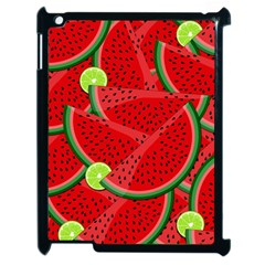 Watermelon Slices Apple Ipad 2 Case (black) by Valentinaart