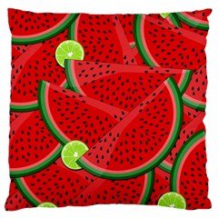 Watermelon Slices Large Cushion Case (two Sides) by Valentinaart