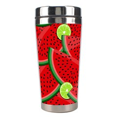 Watermelon Slices Stainless Steel Travel Tumblers by Valentinaart