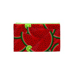 Watermelon Slices Cosmetic Bag (xs) by Valentinaart