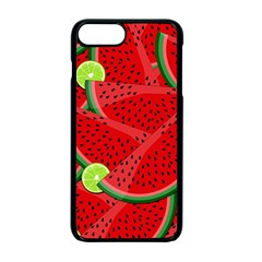 Watermelon Slices Apple Iphone 7 Plus Seamless Case (black) by Valentinaart