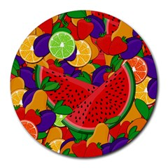 Summer Fruits Round Mousepads by Valentinaart