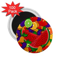 Summer Fruits 2 25  Magnets (100 Pack)  by Valentinaart