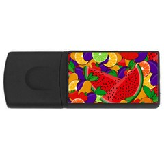 Summer Fruits Usb Flash Drive Rectangular (4 Gb) by Valentinaart